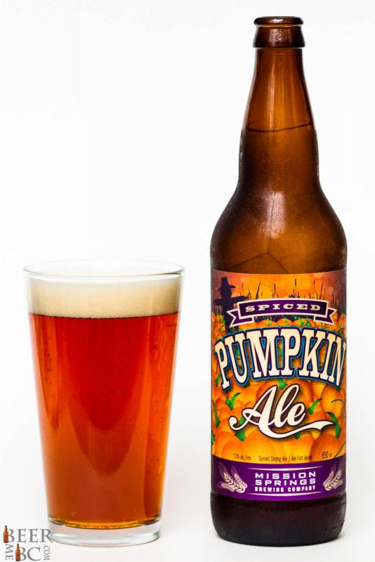 Mission Springs Brewery Spiced Pumpkin Ale Review