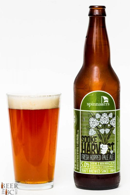 Spinnaker's Brewing Sook Harvest Fresh Hop Pale Ale Review