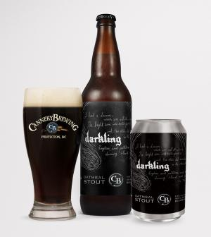 Darkling family - bottle, can and glass