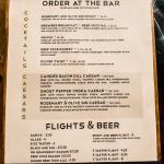 Deep Cove Brewery Menu