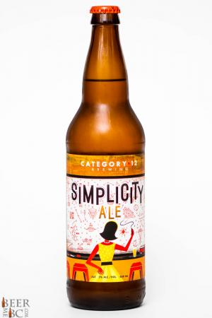 Category 12 Brewing Simplicity Ale Review
