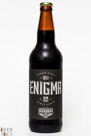 Powell Street Brewery Enigma Stout Review