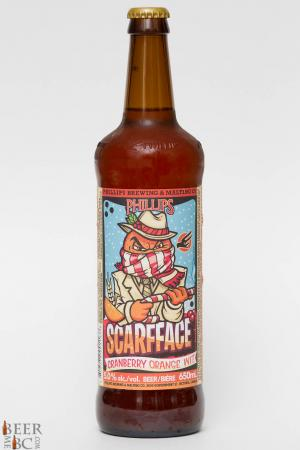 Phillips Brewing Scarfface Cranberry Orange Witbier Review