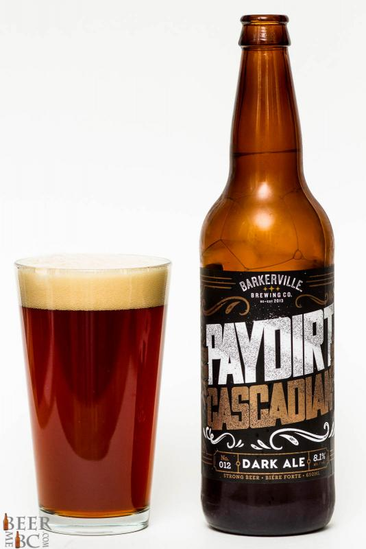 Barkerville Brewing Paydirt Cascadian Dark Ale Review