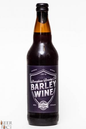 Persephone Brewing 2015 Barley Wine Review