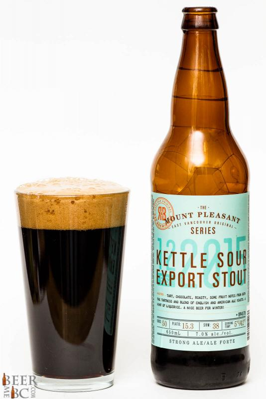 R&B Brewing Kettle Sour Export Stout Review