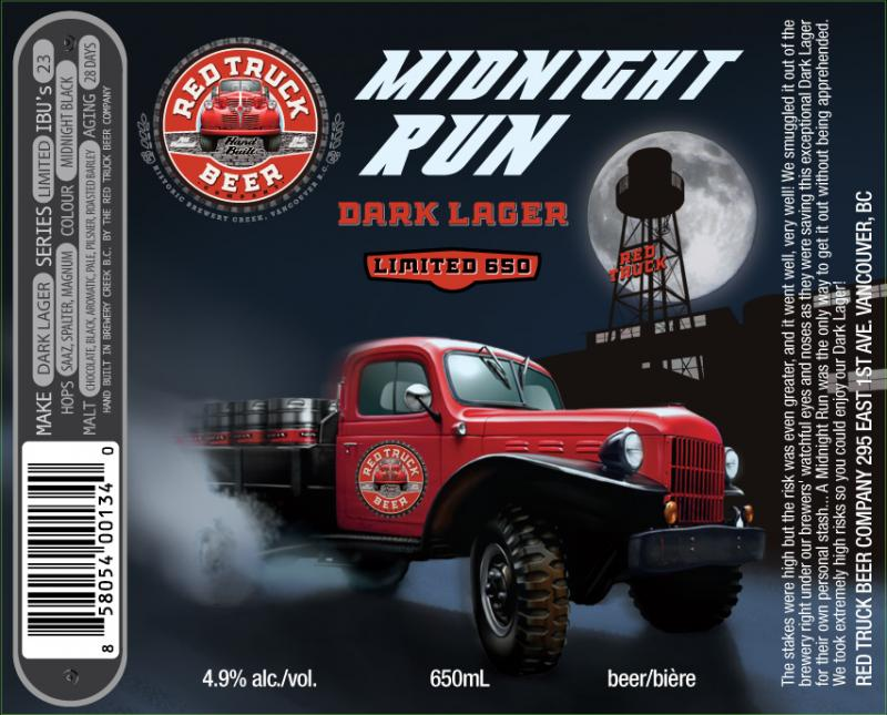Red Truck Midnight Run Dark Lager