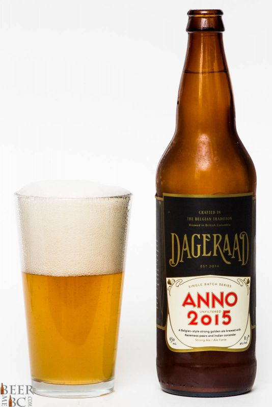 Dageraad Brewing Anno 2015 Belgian strong Golden Ale Review