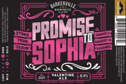 Barkerville's Promise to Sophia Valentines Ale Returns for 2016