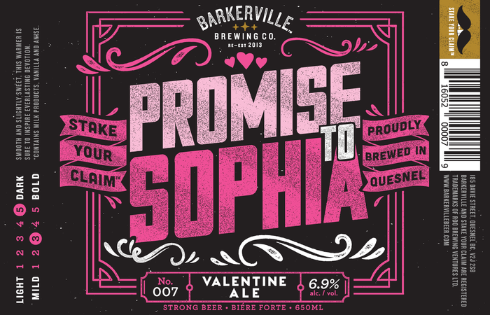 Barkerville Brewing Promise To Sophia Returns