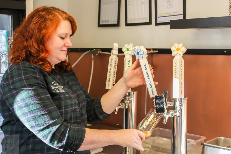 Dogwood Brewing Claire Pouring
