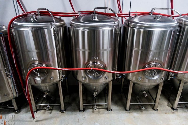Fermentors at Trading Post Brewery