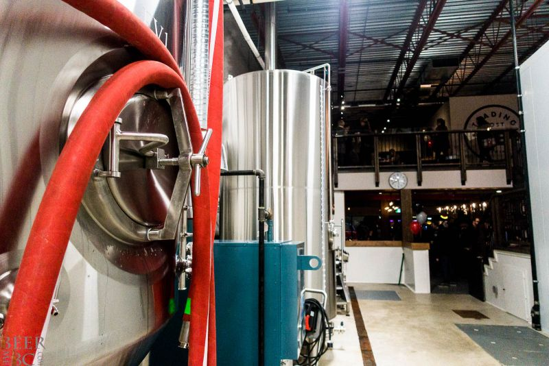 Brew Floor at Trading Post Brewery