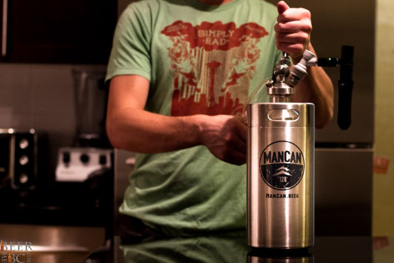 Using the Man Can Growler