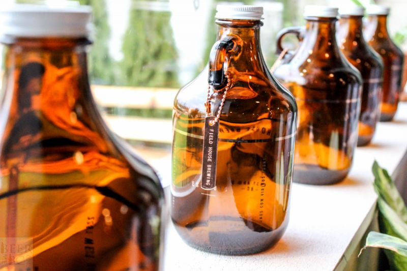 Fieldhouse Brewing Growlers Close-up