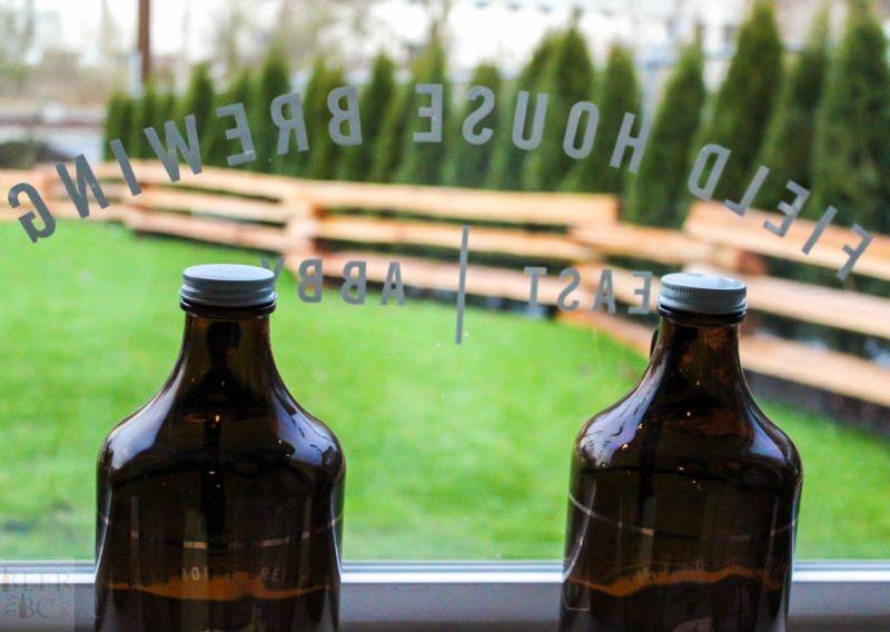 Fieldhouse Brewing Growlers Window