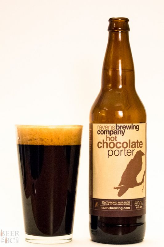 Ravens Brewing Hot Chocolate Porter Bottle and Glass