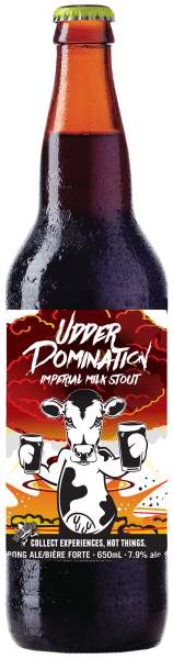 Dead Frog Udder Domination Imperial Milk Stout Bottle Shot