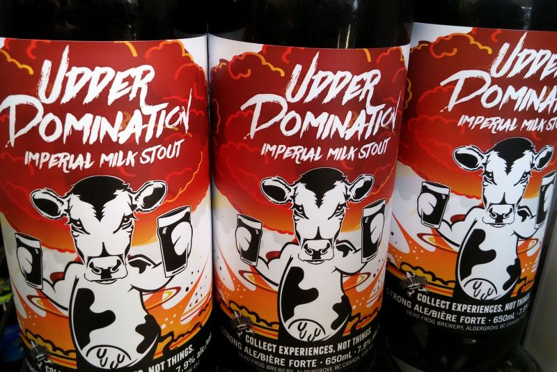 Dead Frog Udder Domination Imperial Milk Stout Bottles