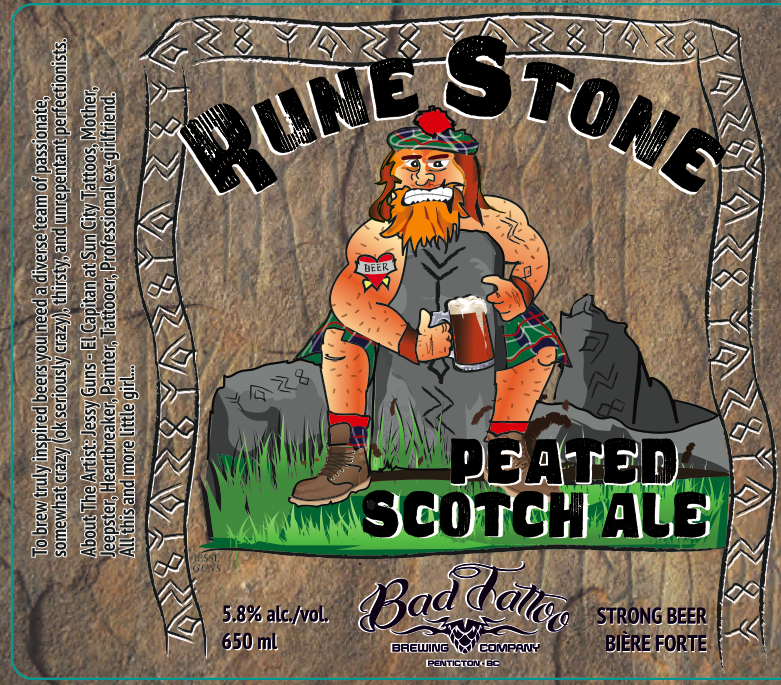 Bad Tattoo Rune Stone Peated Scotch Ale