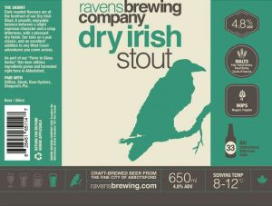 Ravens Irish Stout Label