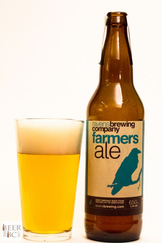Ravens Farmers Ale Bottle & Glass