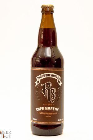 Ridge Brewing Cafe Morena Brown Ale Bottle
