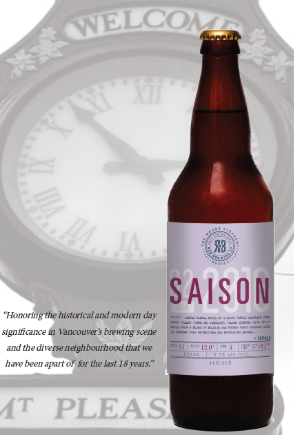 R&B Brewing Mt Pleasant Saison