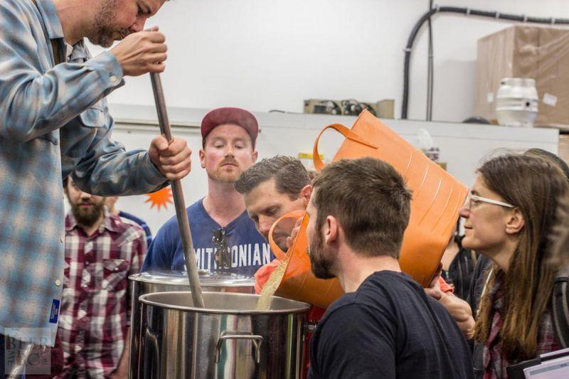 Victoria Beer Week Home Brewing Workshop Starting the Mash