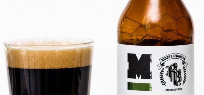 Moody Ales & Ridge Brewing – 1880 Export Stout