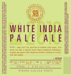 R&B White IPA Release