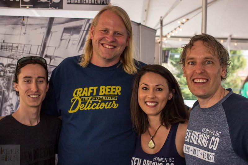 Okanagan Fest of Ale 2016 Marten Brewing Group Photo