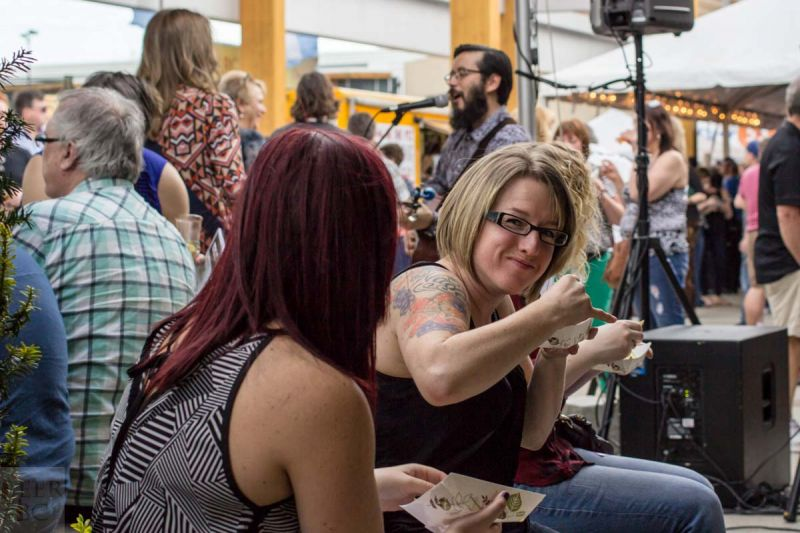 Okanagan Fest of Ale 2016 Enjoying Food