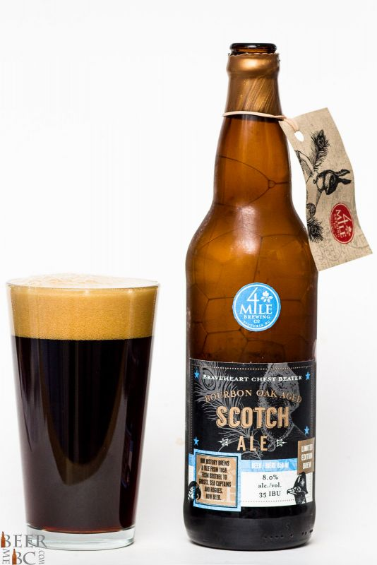 4 Mile Brewing Barrel Aged Scotch Ale Review