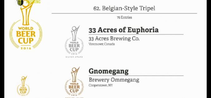 33 Acres of Euphoria Wins World Beer Cup Silver Medal