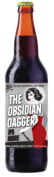 Obsidian Dagger IPA Noire Bottle Shot