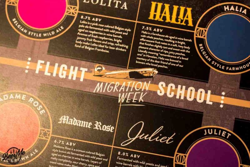 Goose Island Migration Week Flight School Menu