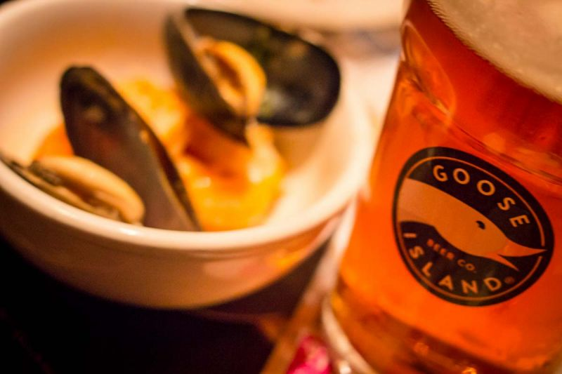 Goose Island Migration Week Pint and Mussels