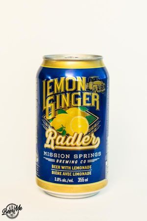 Mission Springs Brewing Co Lemon Ginger Radler Can