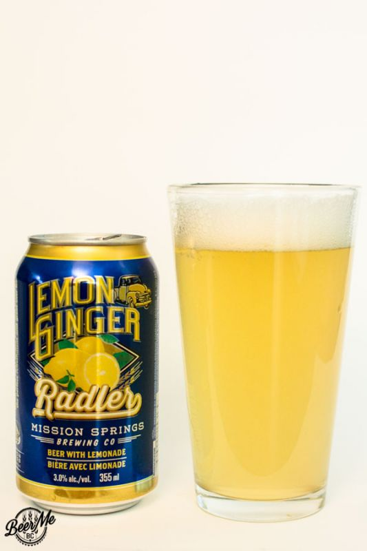 Mission Springs Brewing Co Lemon Ginger Radler