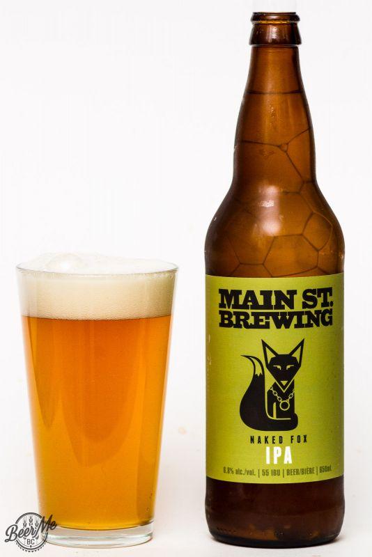 Main St. Brewing Naked Fox IPA Review