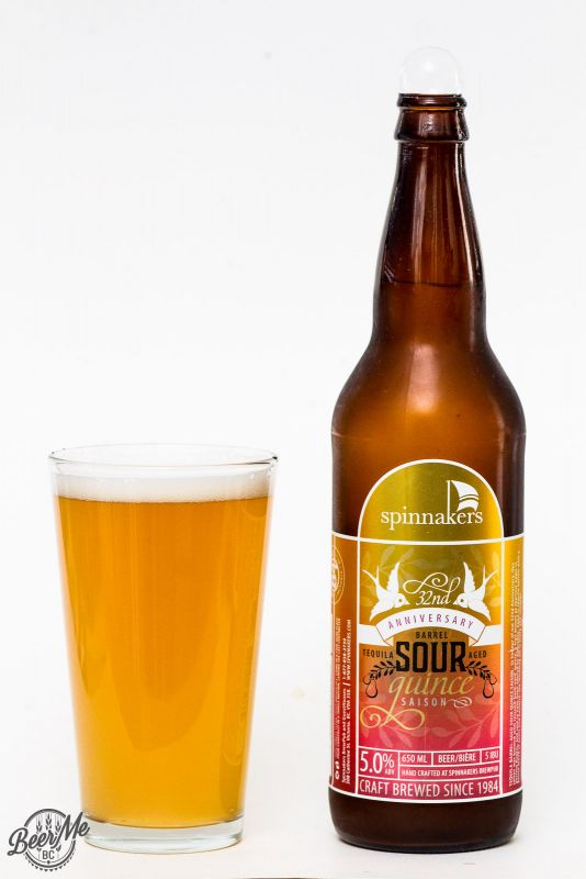 Spinnakers Brewery 32nd anniversary Quince Sour Ale Review