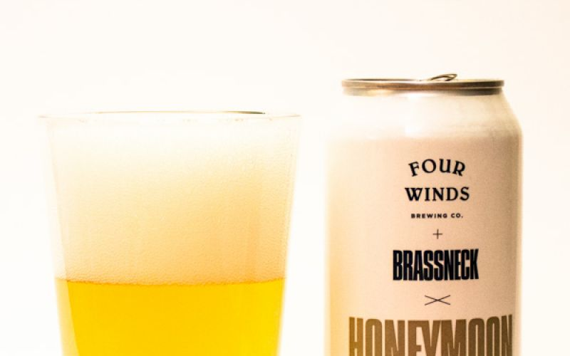 Four Winds and Brassneck Collaboration Honeymoon Baby Tropical Saison