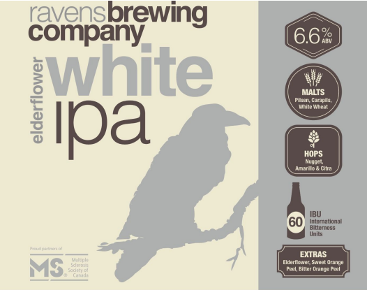 Ravens White IPA Label