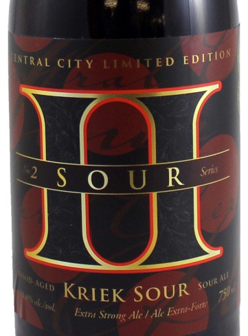 Central City Brewing Kriek Sour Label