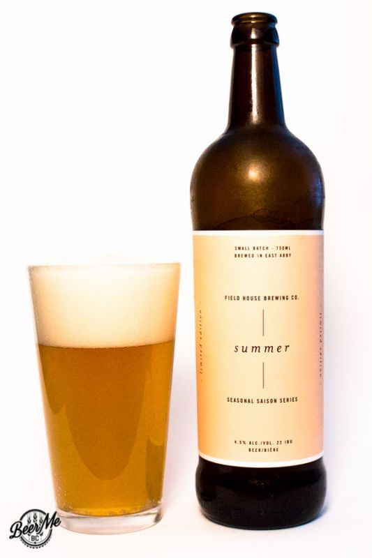 Fieldhouse Brewing Summer Saison
