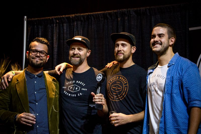 The top new brewery Fieldhouse Brewing takes home the Rookie of the Year award