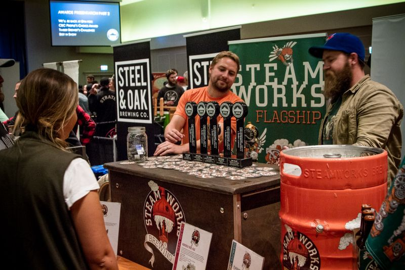 The hardware for Steamworks Brewing