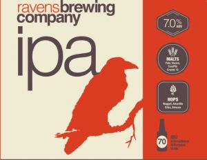 Ravens Brewing IPA Label