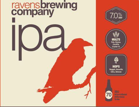 Ravens Brewing IPA Label